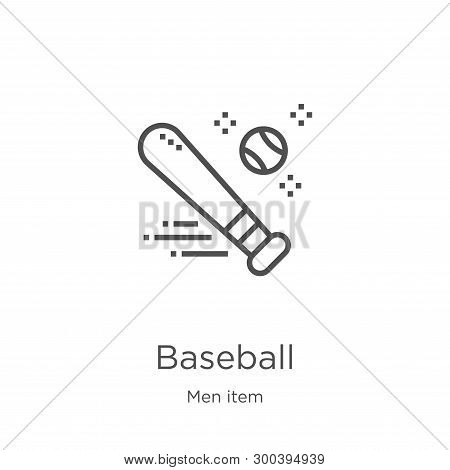 Baseball Icon Isolated On White Background From Men Item Collection. Baseball Icon Trendy And Modern