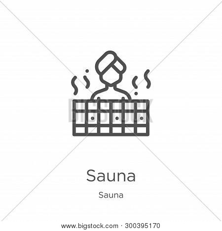 Sauna Icon Isolated On White Background From Sauna Collection. Sauna Icon Trendy And Modern Sauna Sy