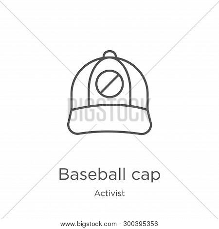 Baseball Cap Icon Isolated On White Background From Activist Collection. Baseball Cap Icon Trendy An