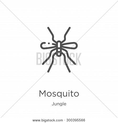Mosquito Icon Isolated On White Background From Jungle Collection. Mosquito Icon Trendy And Modern M