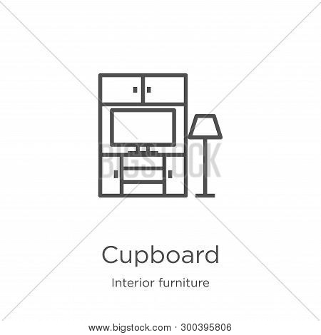 Cupboard Icon Isolated On White Background From Interior Furniture Collection. Cupboard Icon Trendy