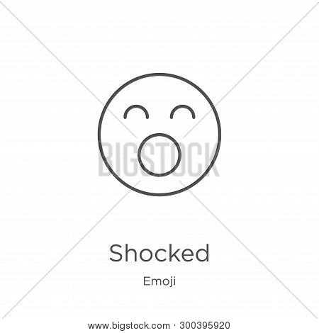 Shocked Icon Isolated On White Background From Emoji Collection. Shocked Icon Trendy And Modern Shoc