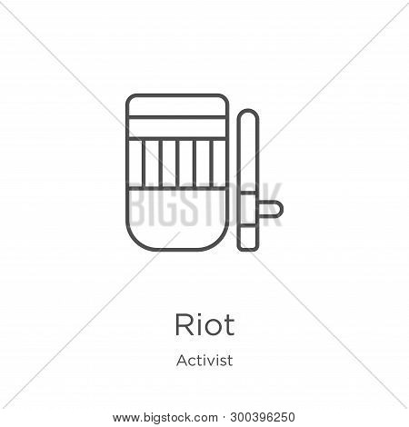 Riot Icon Isolated On White Background From Activist Collection. Riot Icon Trendy And Modern Riot Sy