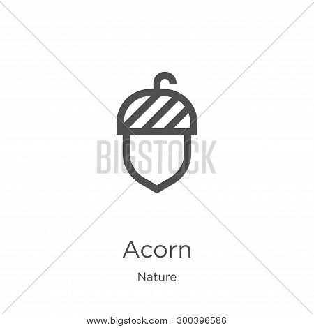 Acorn Icon Isolated On White Background From Nature Collection. Acorn Icon Trendy And Modern Acorn S