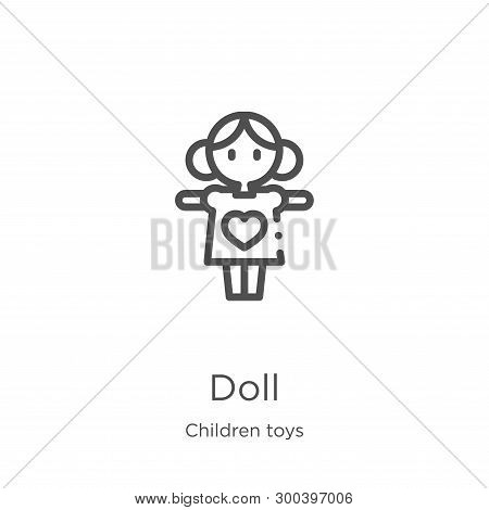 Doll Icon Isolated On White Background From Children Toys Collection. Doll Icon Trendy And Modern Do