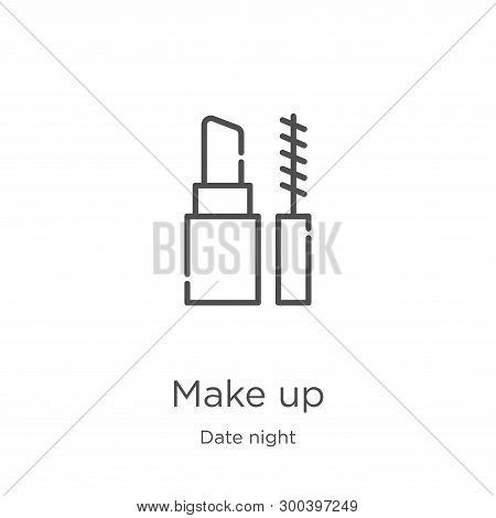 Make Up Icon Isolated On White Background From Date Night Collection. Make Up Icon Trendy And Modern
