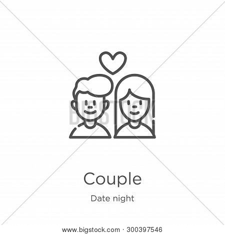 Couple Icon Isolated On White Background From Date Night Collection. Couple Icon Trendy And Modern C
