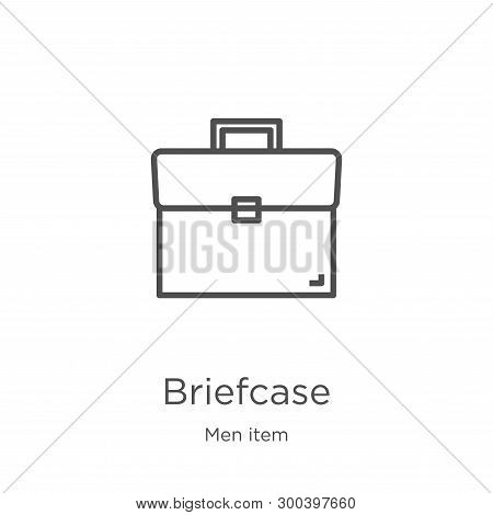 Briefcase Icon Isolated On White Background From Men Item Collection. Briefcase Icon Trendy And Mode