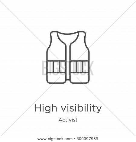 High Visibility Icon Isolated On White Background From Activist Collection. High Visibility Icon Tre