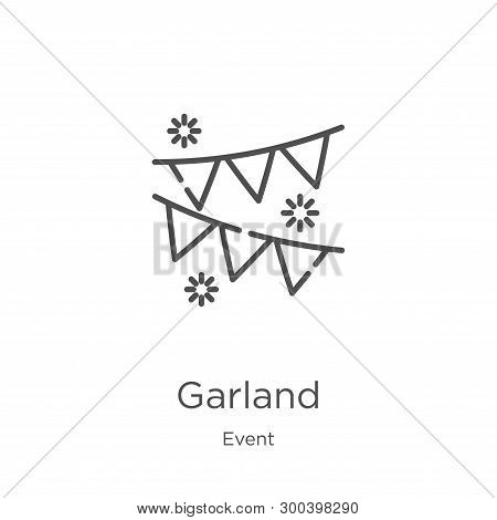 Garland Icon Isolated On White Background From Event Collection. Garland Icon Trendy And Modern Garl