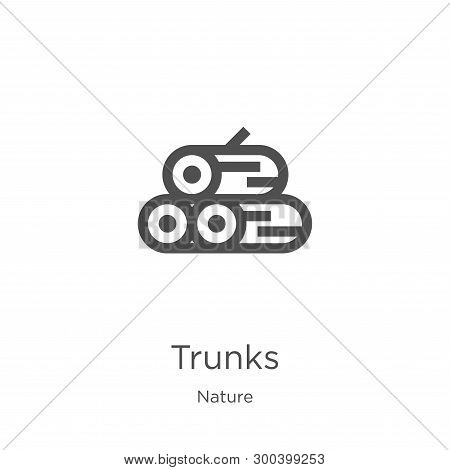 Trunks Icon Isolated On White Background From Nature Collection. Trunks Icon Trendy And Modern Trunk