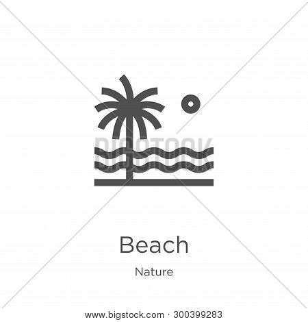 Beach Icon Isolated On White Background From Nature Collection. Beach Icon Trendy And Modern Beach S