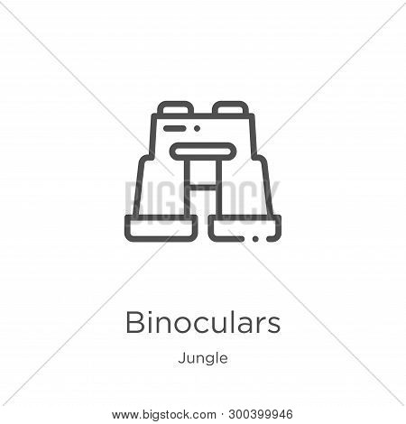 Binoculars Icon Isolated On White Background From Jungle Collection. Binoculars Icon Trendy And Mode