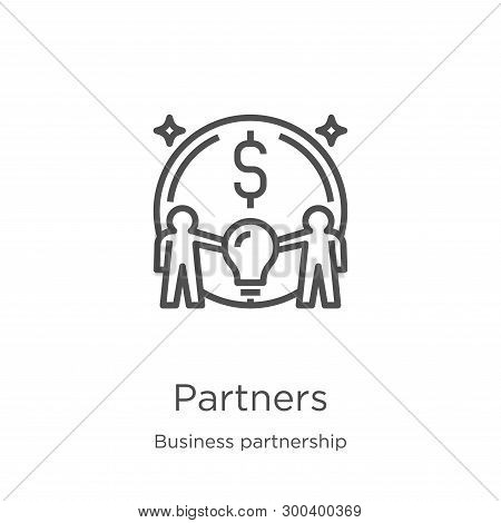 Partners Icon Isolated On White Background From Business Partnership Collection. Partners Icon Trend