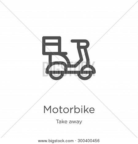 Motorbike Icon Isolated On White Background From Take Away Collection. Motorbike Icon Trendy And Mod