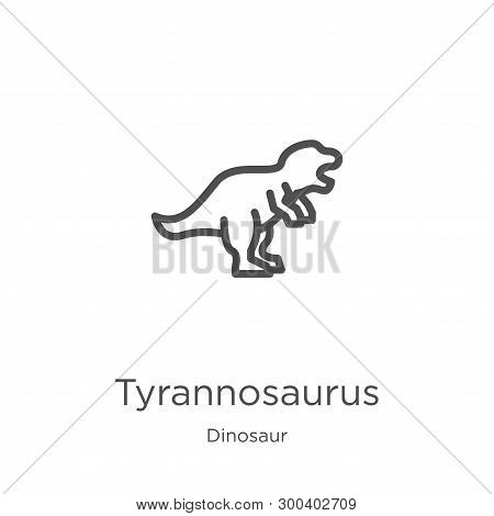 Tyrannosaurus Icon Isolated On White Background From Dinosaur Collection. Tyrannosaurus Icon Trendy
