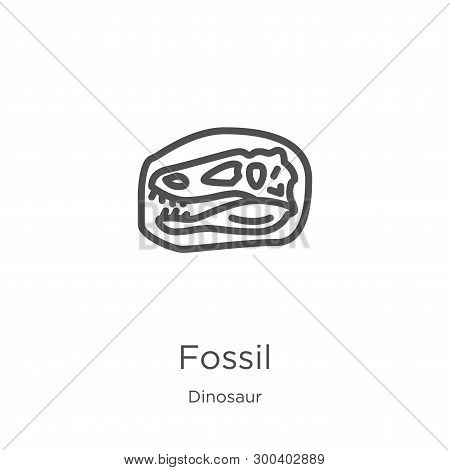 Fossil Icon Isolated On White Background From Dinosaur Collection. Fossil Icon Trendy And Modern Fos