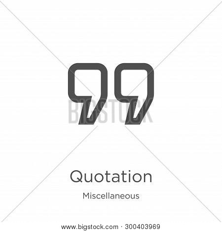 Quotation Icon Isolated On White Background From Miscellaneous Collection. Quotation Icon Trendy And