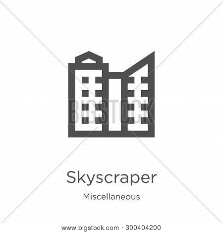Skyscraper Icon Isolated On White Background From Miscellaneous Collection. Skyscraper Icon Trendy A