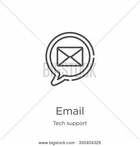 Email Icon Isolated On White Background From Tech Support Collection. Email Icon Trendy And Modern E