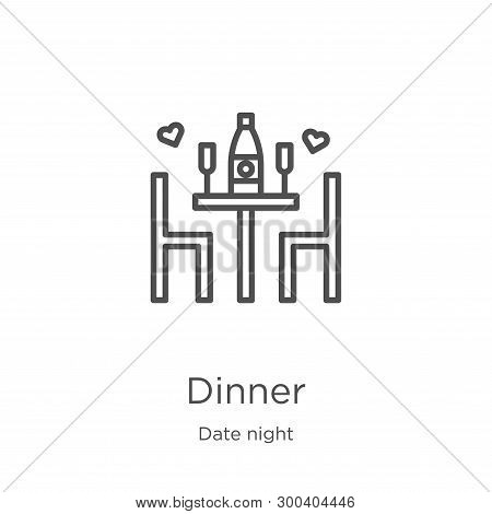 Dinner Icon Isolated On White Background From Date Night Collection. Dinner Icon Trendy And Modern D