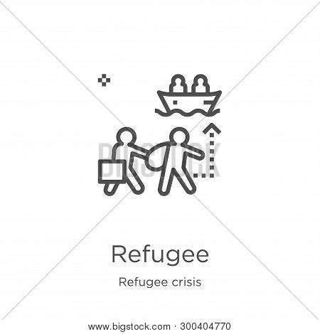 Refugee Icon Isolated On White Background From Refugee Crisis Collection. Refugee Icon Trendy And Mo