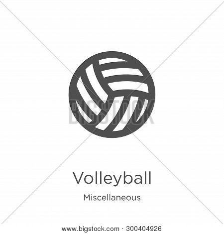 Volleyball Icon Isolated On White Background From Miscellaneous Collection. Volleyball Icon Trendy A