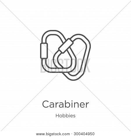 Carabiner Icon Isolated On White Background From Hobbies Collection. Carabiner Icon Trendy And Moder
