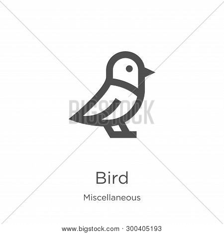 Bird Icon Isolated On White Background From Miscellaneous Collection. Bird Icon Trendy And Modern Bi