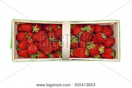 Fresh Strawberries Isolated On The White Background