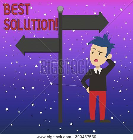 Conceptual Hand Writing Showing Best Solution. Business Photo Text Alternative Or Approach That Best