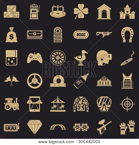 Casino Icons Set. Simple Style Of 36 Casino Vector Icons For Web For Any Design
