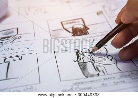 Hands On Storyboard Movie Layout For Pre-production, Storytelling Drawing Creative For Process Produ