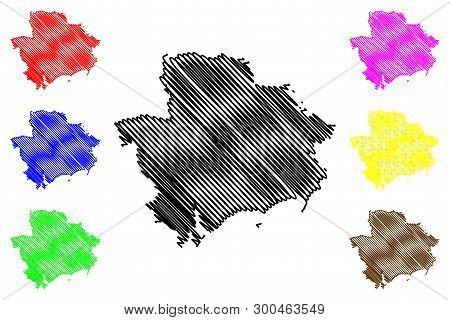 Zaporizhia Oblast (administrative Divisions Of Ukraine, Oblasts Of Ukraine) Map Vector Illustration,