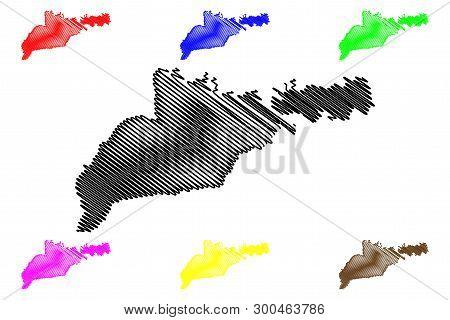 Chernivtsi Oblast (administrative Divisions Of Ukraine, Oblasts Of Ukraine) Map Vector Illustration,