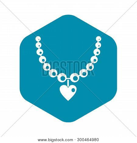 Necklace Icon. Simple Illustration Of Necklace Vector Icon For Web