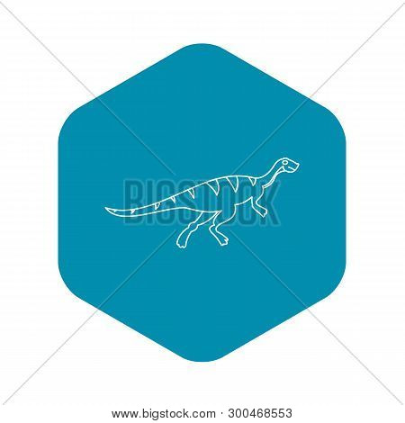 Gallimimus Icon. Outline Illustration Of Gallimimus Vector Icon For Web