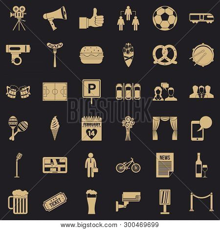 Occasion Icons Set. Simple Style Of 36 Occasion Vector Icons For Web For Any Design