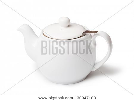 teapot on a white background