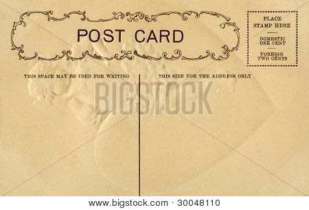 Vintage Postcard With Space For Writing