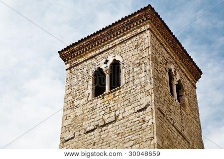 Close View Of Bell Tower In Rijeka, Croatia