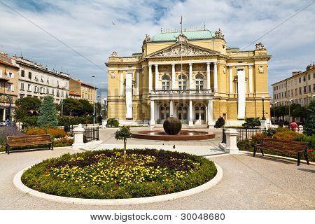 Kasalisni Park And Theater Building In Rijeka, Croatia