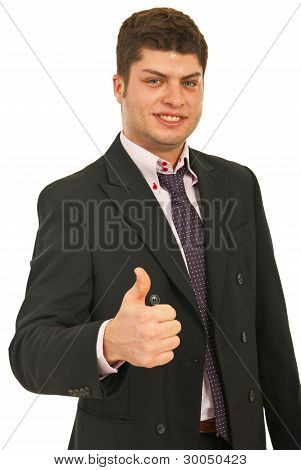 Business Man Giving Thumbs