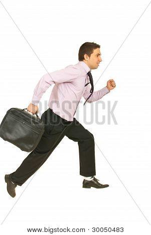Running Business Man