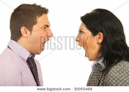 Furious Business People Having Dispute