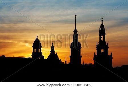 Sunset On Dresden - Germany