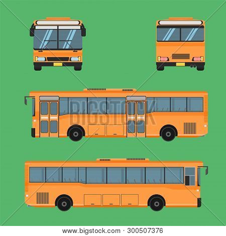 Thai Bus Orange Transport Car Vehicle Driver Fare Passenger Autobus Omnibus Coach Rail Bench Chair S