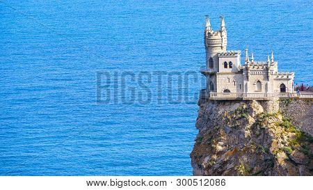 Castle Of Swallow's Nest At Black Sea, Crimea, Russia