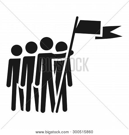 People cohesion icon. Simple illustration of people cohesion vector icon for web design isolated on white background poster