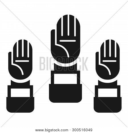 People Hand Cooperation Icon. Simple Illustration Of People Hand Cooperation Vector Icon For Web Des